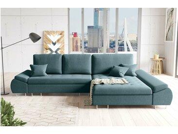 Stylefy Flori Canapé d'angle Turquoise Droite