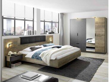 Stylefy Matheo I Ensembles de chambre a coucher Chene Montana Décor Gris 180x200 cm