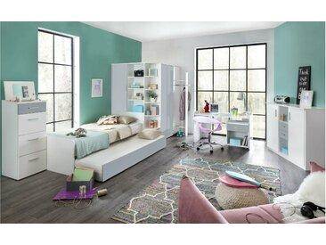 Stylefy Lio Ensemble de chambre d'enfant Blanc Gris