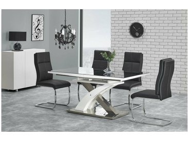 Stylefy Sandor II Ensemble Table a Manger Noir Chrome