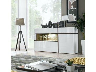 Stylefy Hamar Highboard Blanc Laqué Haute Brillance | Blanc Mat Frene