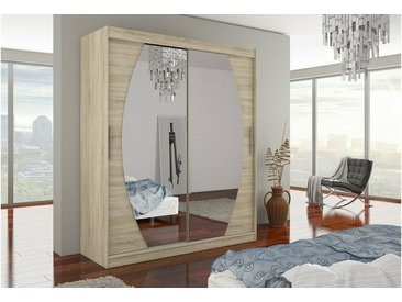 Stylefy Baltimore Armoire Penderie 215x180x58 Sonoma
