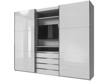 Stylefy Firgas Armoire a portes coulissantes Blanc