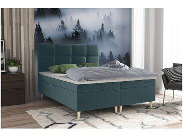 Stylefy Skandie Lit boxspring 140x200 cm Bleu