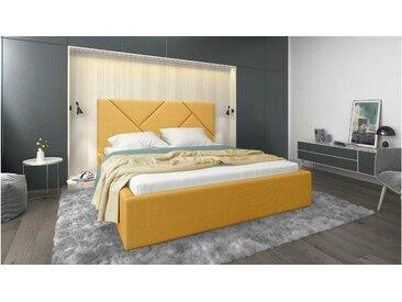 Stylefy Ceres Lit rembourré Jaune Matériau structurel 180x200