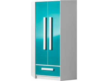 Stylefy Goldie Armoire d'angle II Blanc Turquoise