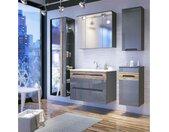 Neboda Ensemble de salle de bain Gris brillant