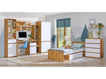 Stylefy Arcola Ensemble de chambre d'enfant III Chene Wotan Blanc