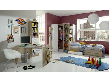 Stylefy Lio Ensemble de chambre d'enfant Chene San Remo Blanc 140x200 cm