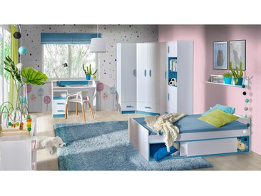 Stylefy Taira V Ensemble de chambre d'enfant Blanc Turquoise