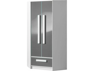Stylefy Goldie Armoire d'angle II Blanc Gris