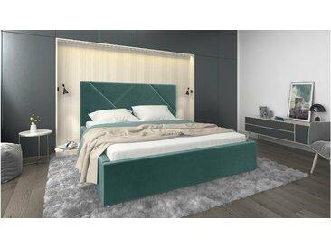 Stylefy Ceres Lit rembourré Turquoise Velour 180x200