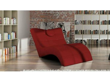 Stylefy Londres Fauteuil relax 84-76x170x92 cm Rouge