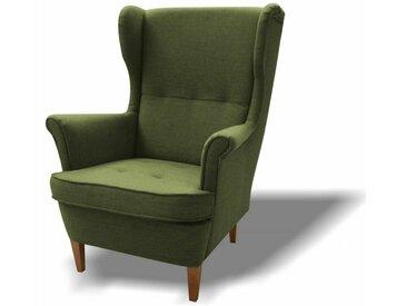 Stylefy Wood Sessel Strukturstoff 82x100x92 Grün