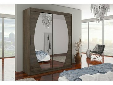 Stylefy Baltimore Armoire Penderie 215x180x58 Choco