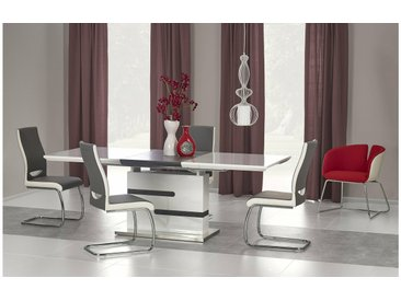 Stylefy Monaco Ensemble Table a Manger Gris Blanc