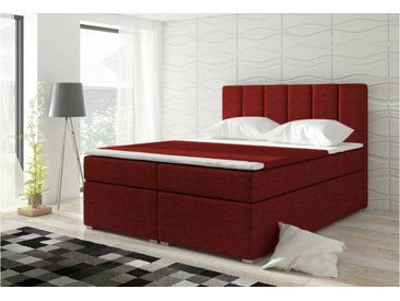 Stylefy Bolero Lit boxspring 126x180x200 cm Rouge