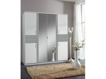 Stylefy Embu Armoire a portes battantes Blanc Beton