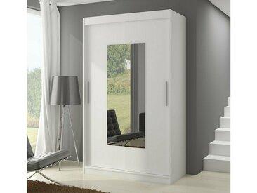 Stylefy Dorrigo Armoire Penderie 200x150x58 cm Blanc