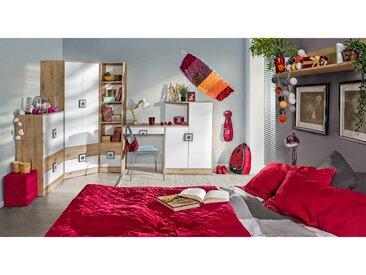 Stylefy Nicole IV Ensemble de chambre d'enfant Chene Blanc Gris