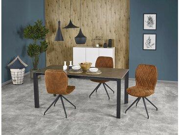 Stylefy Horizon Ensemble Table a Manger Gris Noir