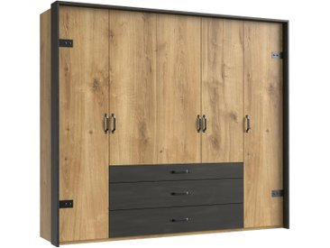 Stylefy Sydney Armoire a portes battantes Chene