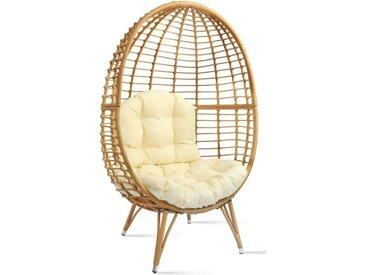 Stylefy Bohemia Table et chaise & banc de jardin Écru