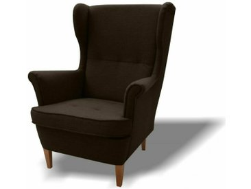 Stylefy Wood Sessel Strukturstoff 82x100x92 Braun