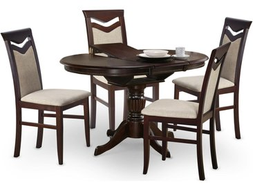 Stylefy William Table de salle a manger extensible Noyer