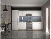 Daria 240 Küchenzeile Weiß Eiche