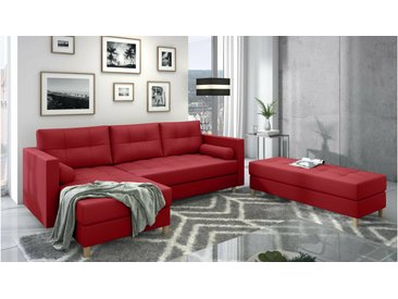 Stylefy Kaito Canape d'angle Rouge Cuir synthetique