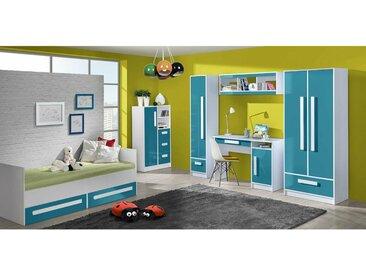 Stylefy Goldie Ensemble de chambre d'enfant II Blanc Turquoise