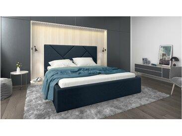 Stylefy Ceres Lit rembourré Bleu Matériau structurel 160x200