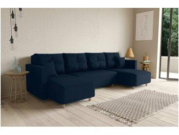 Stylefy Skan Canapé panoramique Bleu