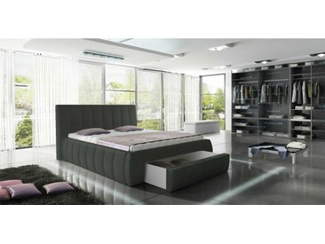 Stylefy Roma Lit Gris Cuir synthetique 180x200