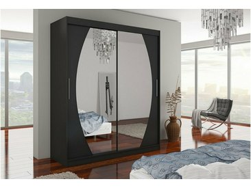 Stylefy Baltimore Armoire Penderie 215x180x58 Noir