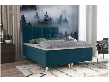Stylefy Skandie Lit boxspring 200x200 cm Turquoise
