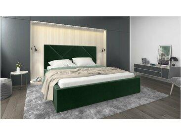Stylefy Ceres Lit rembourré Vert Velour 160x200