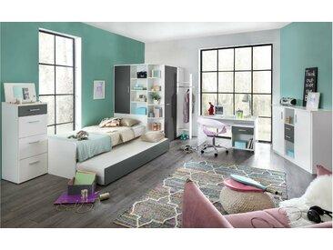 Stylefy Lio Ensemble de chambre d'enfant Blanc Graphite