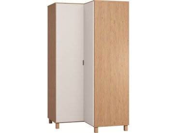 Stylefy Simplica IV Armoire d'angle Chene Blanc