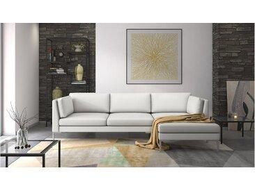 Stylefy Siri Canapé d'angle Blanc Cuir synthétique