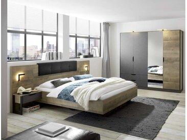 Stylefy Matheo I Ensembles de chambre a coucher Chene Montana Décor Gris 140x200 cm