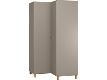 Stylefy Simplica IV Armoire d'angle Gris Gris
