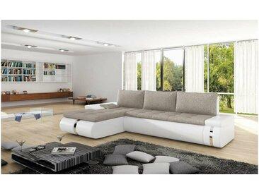 Stylefy FADO MINI Canapé d'angle Blanc Beige