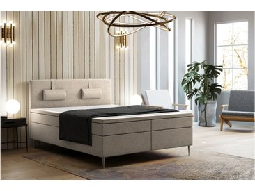 Stylefy Respectable Lit Boxspring Creme 180x200 cm