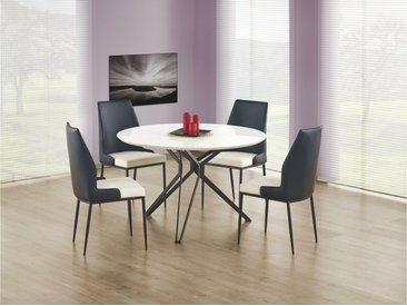 Stylefy Pixel Table salle a manger Blanc O120x76