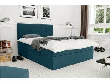Stylefy Largetti Lit boxspring 200x200 cm Turquoise