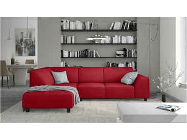 Stylefy Einar Canapé d'angle Rouge Velours