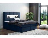 Comfy Lit boxspring 180x200 cm Bleu