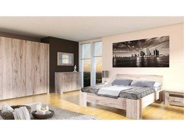 Chambre complète GENEWA Chene gris 160*200 cm